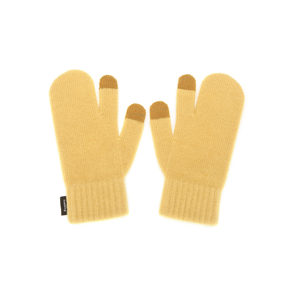 KNIT TIMI GLOVES_ver.3 - YELLOW