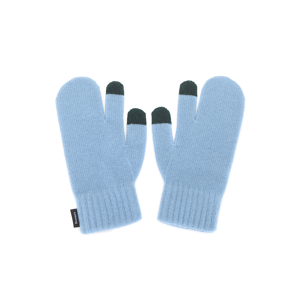 KNIT TIMI GLOVES_ver.3 - SKY BLUE